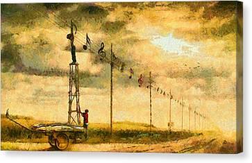 Country Musician - Da Canvas Print by Leonardo Digenio