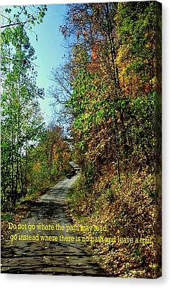 Country Path Canvas Print by Gary Wonning