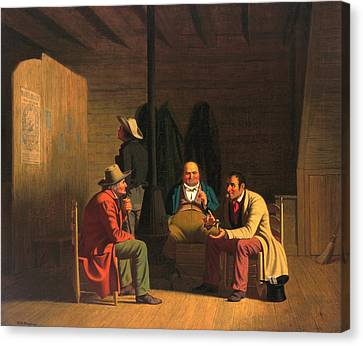 Country Politician Canvas Print by George Caleb Bingham