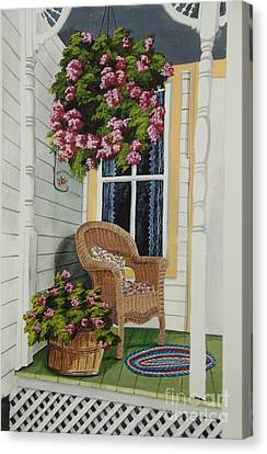 Country Porch Canvas Print by Charlotte Blanchard