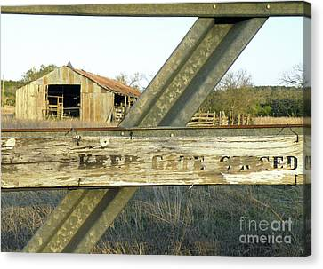 Canvas Print featuring the photograph Country Quiet by Joe Jake Pratt