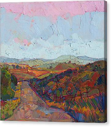 Canvas Print featuring the painting Country Road by Erin Hanson