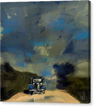 Canvas Print featuring the digital art Country Road II by Jim Vance