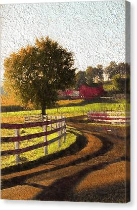 Country Road In Ohio Canvas Print by Dan Sproul
