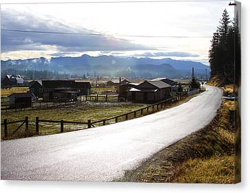 Canvas Print featuring the photograph Country Road by Sergey Nassyrov