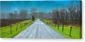 Gravel Road Canvas Print - Country Road Take Me Home by Abhay P