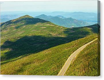 Canvas Print featuring the photograph Country Road To My Home Whiteface Mountain New York by Paul Ge