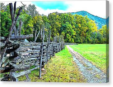 Smokey Mountain Drive Canvas Print - Country Roads by James Fowler