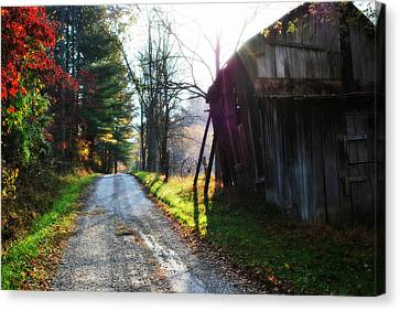 Country Roads Take Me Home Canvas Print by Chastity Hoff