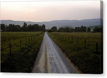 Country Roads Take Me Home Canvas Print by David Lee Thompson