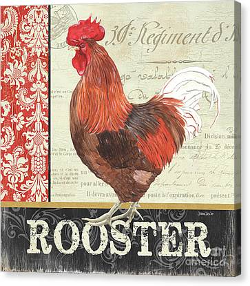 Country Rooster 2 Canvas Print