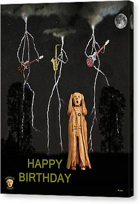 Country Scream Happy Birthday Canvas Print by Eric Kempson