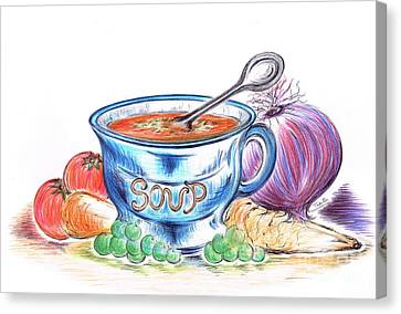 Countryside Harvest Soup Canvas Print by Teresa White