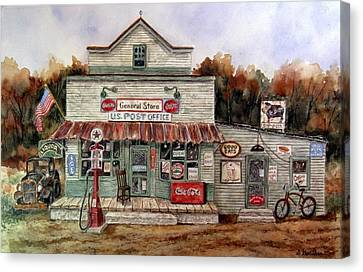 Country Store Canvas Print by Sharon Gouthro