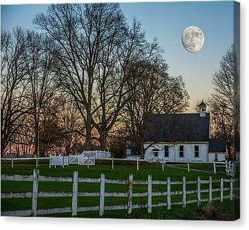 Country Super Moon Canvas Print by Randall Branham