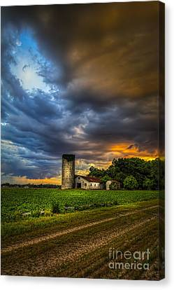 Barbed Wire Canvas Print - Country Tempest by Marvin Spates