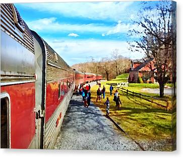 Country Train Depot Canvas Print