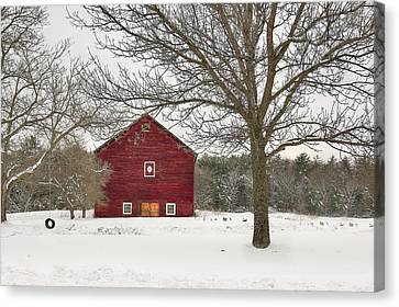 Canvas Print featuring the digital art Country Vermont by Sharon Batdorf