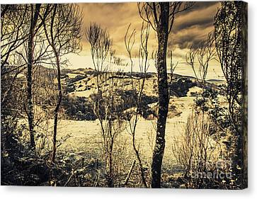 Country Victoria Winter Scene Canvas Print