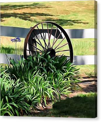 Country Wagon Wheel Canvas Print