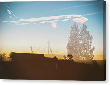 Canvas Print - Countryside Boeing by Victor Grigoryev
