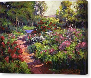 Countryside Gardens Canvas Print by David Lloyd Glover