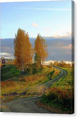 Remote Countryside Of Russia Canvas Print