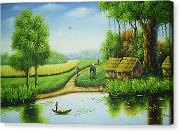 Countryside In My Eyes Canvas Print by An Pham