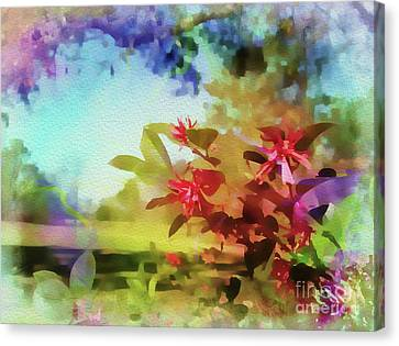 Countryside In Springtime Canvas Print by Judi Bagwell