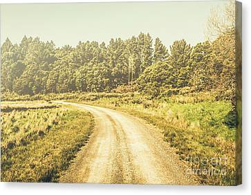 Countryside Road In Outback Australia Canvas Print