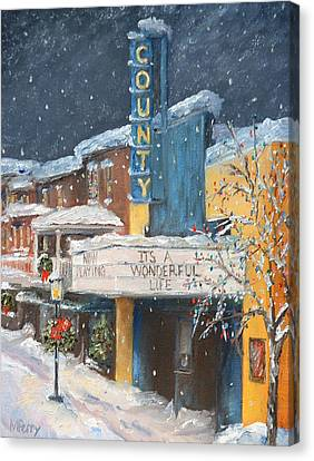 County Christmas Canvas Print