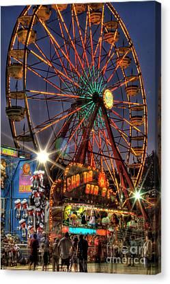 Atlanta Convention Canvas Print - County Fair Ferris Wheel by Corky Willis Atlanta Photography