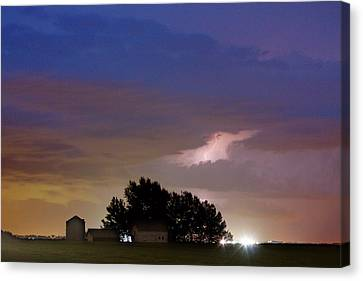 County Line 1 Northern Colorado Lightning Storm Canvas Print by James BO  Insogna