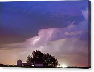 County Line Northern Colorado Lightning Storm Canvas Print