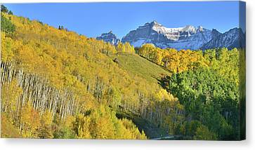 Canvas Print featuring the photograph County Road 7 Fall Colors by Ray Mathis