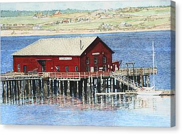 Coupeville Wharf Canvas Print by Perry Woodfin