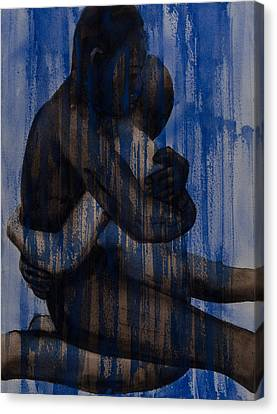 Couple   Blue Canvas Print by Graham Dean