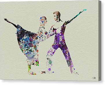 Couple Dancing Ballet Canvas Print by Naxart Studio