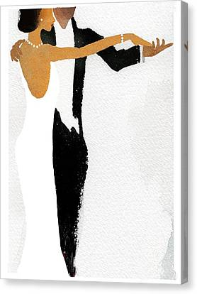 Couple Dressed Up And Slow Dancing Canvas Print by Gillham Studios