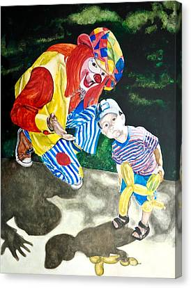 Couple Of Clowns Canvas Print