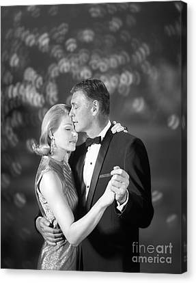 Couple Slow Dancing, C.1960s Canvas Print by H. Armstrong Roberts/ClassicStock