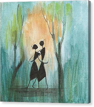 Couples Delight Canvas Print by Chintaman Rudra