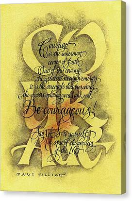 Courage 2 Canvas Print by Sally Penley