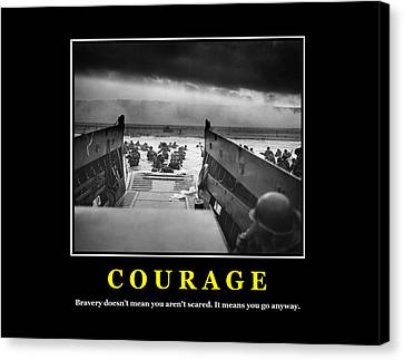 Courage -- D Day Poster Canvas Print by War Is Hell Store
