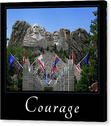 Canvas Print featuring the photograph Courage by Mary Jo Allen