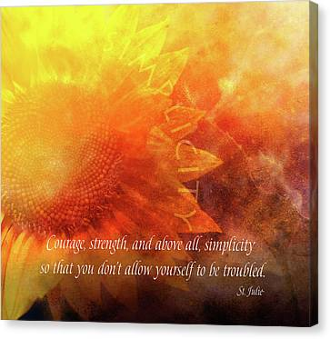 Courage Canvas Print - Courage by Terry Davis