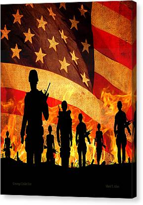 Courage Under Fire Canvas Print