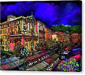 Cours Saleya, Nice, France Canvas Print by DC Langer