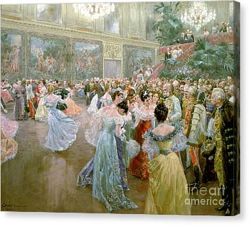 Court Ball At The Hofburg Canvas Print by Wilhelm Gause