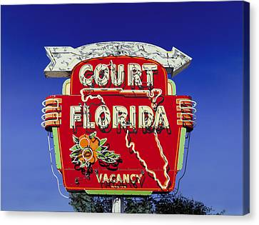 Court Florida Canvas Print by Randy Ford